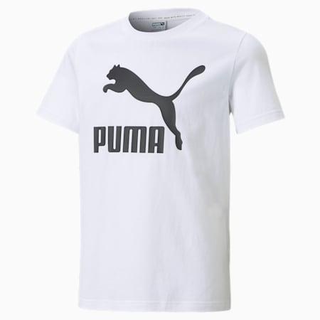 Classics B Youth Tee, Puma White, small