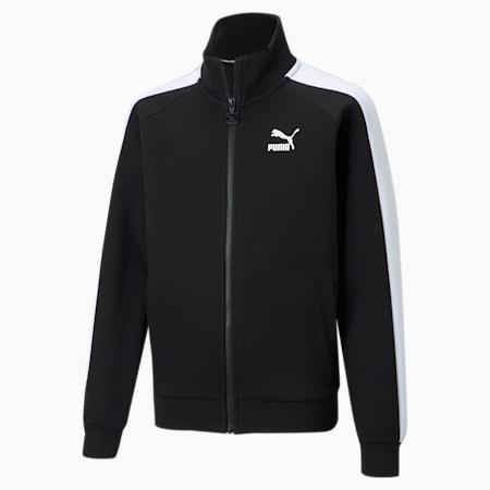 Iconic T7 Youth Track Jacket, Puma Black-Puma White, small