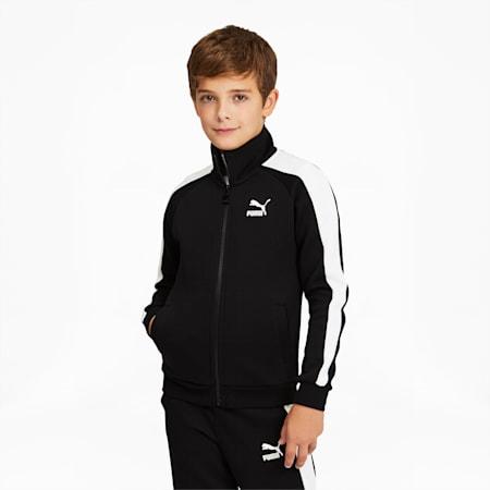 Survêtement emblématique T7 pour garçon, noir PUMA-blanc PUMA, petit