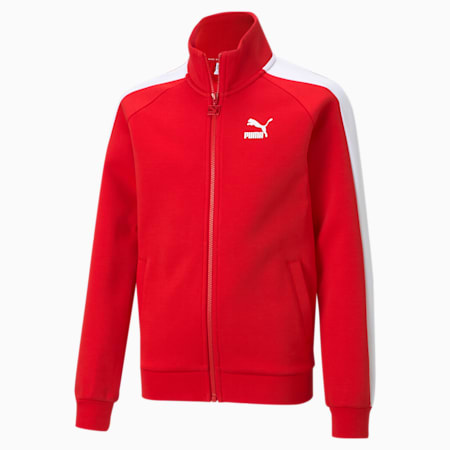 Iconic T7 Youth Track Jacket, High Risk Red, small-GBR
