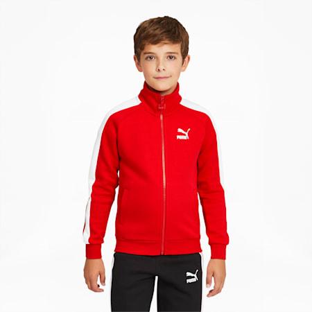Survêtement emblématique T7 pour garçon, Rouge risque élevé, petit