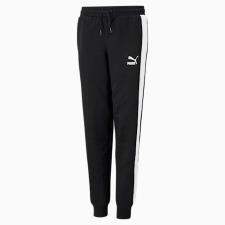 Pantalones deportivosT7 icónicos para niños, Puma Black, pequeño