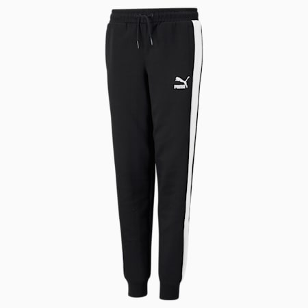 Iconic T7 Youth Track Pants, Puma Black, small-GBR