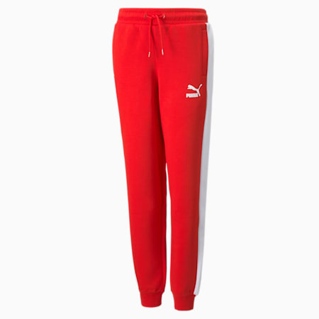 Iconic T7 Youth Track Pants, High Risk Red, small-GBR