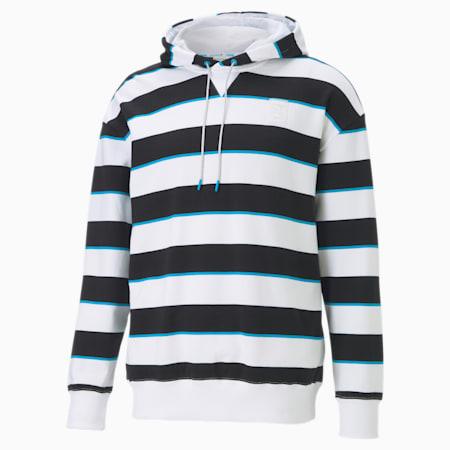 Sweatshirt à capuche CLD9 Double Jump pour homme, Cotton Black-Puma White, small