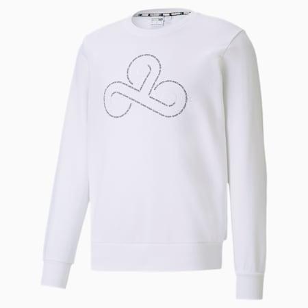 CLD9 Disconnect sweater met ronde hals voor heren, Puma White, small