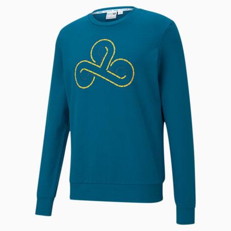 CLD9 Disconnect sweater met ronde hals voor heren, Digi-blue, small