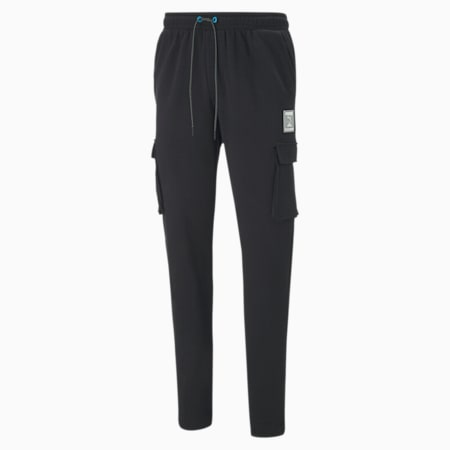 CLD9 GTG All Set Men's Cargo Pants, Cotton Black, small-IND