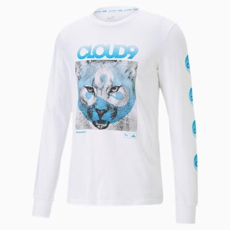 CLD9 T-shirt voor heren, Puma White, small