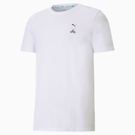 CLD9 Corrupted T-shirt voor heren, Puma White, small