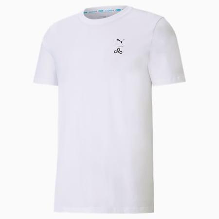 Camiseta CLD9 Corrupted para hombre, Puma White, small