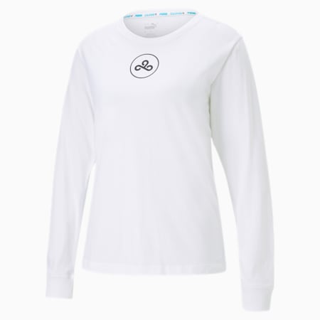 CLD9 T-shirt voor dames, Puma White, small