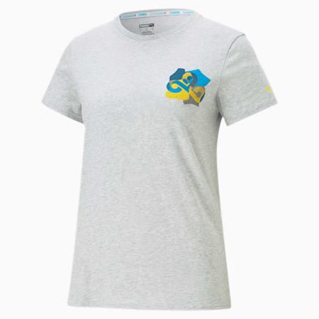 CLD9 Jigsaw T-shirt voor dames, Light Gray Heather, small