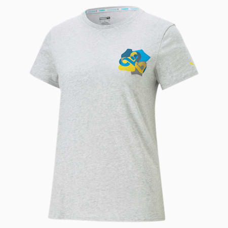 Damska koszulka CLD9 Jigsaw, Light Gray Heather, small