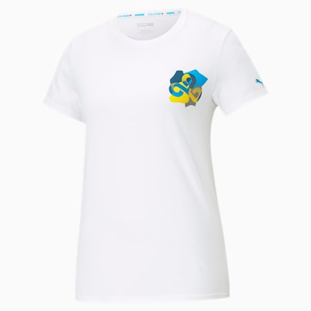 CLD9 Jigsaw Damen T-Shirt, Puma White, small