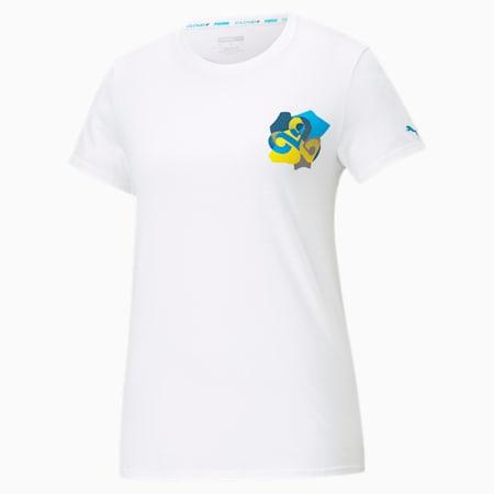 CLD9 Jigsaw T-shirt voor dames, Puma White, small