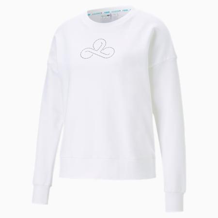 CLD9 Disconnect Damen Rundhals Pullover, Puma White, small