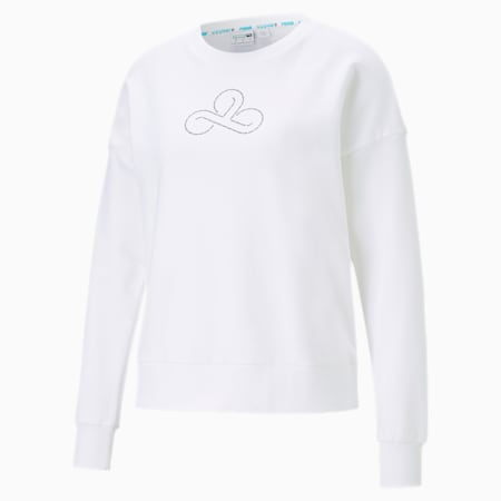 CLD9 Disconnect sweater met ronde hals voor dames, Puma White, small