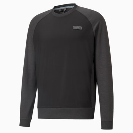 EGW CLOUDSPUN PM Crew Neck Men's Golf Sweater, Puma Black Heather, small