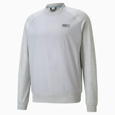 EGW CLOUDSPUN PM golfsweater met ronde kraag voor heren, High Rise Heather, small