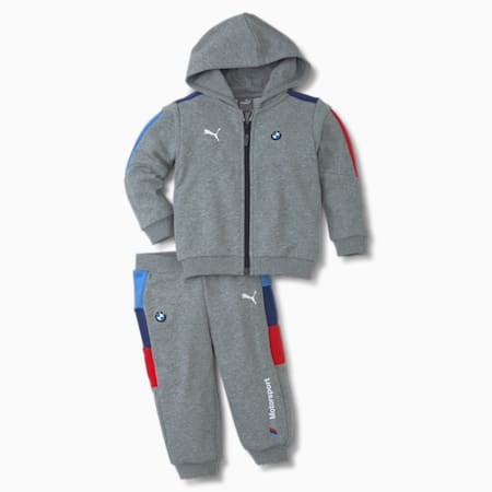 BMW M Motorsport T7 Jogging-Anzug für Babys, Medium Gray Heather, small
