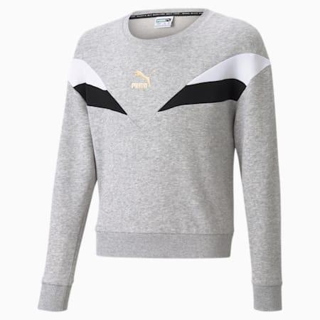 GRL sweater met ronde hals jongeren, Light Gray Heather, small
