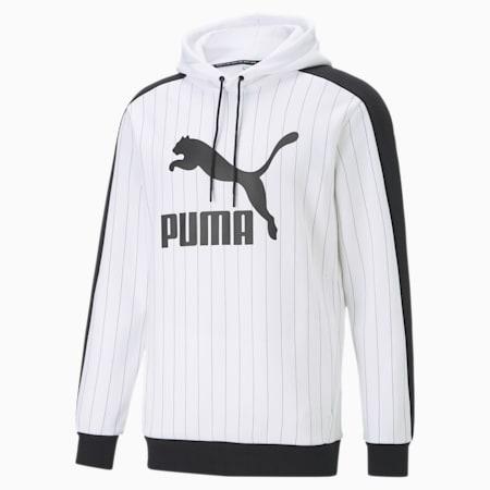 Pinstripe Men's AOP Hoodie, Puma White, small