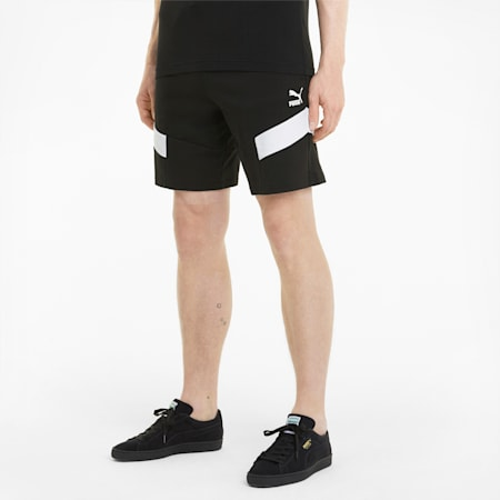 Shorts in french terry Iconic MCS Baby uomo, Puma Black, small
