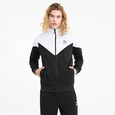 Iconic MCS Mesh Men's Track Jacket, Puma Black, small