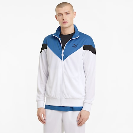 Iconic MCS Mesh Men's Track Jacket, Puma White, small