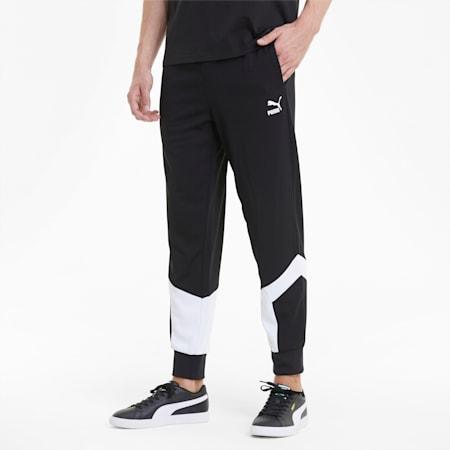 Iconic MCS Mesh Men's Track Pants, Puma Black, small