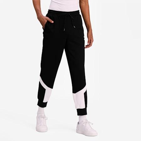 Iconic MCS Mesh Men's Track Pants, Puma Black, small-IND