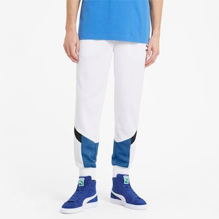 Męskie spodnie dresowe z siateczki Iconic MCS, Puma White, small
