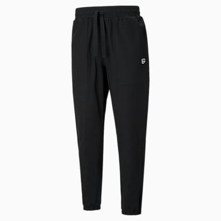 Downtown Twill Men's Track Pants, Puma Black, small-SEA