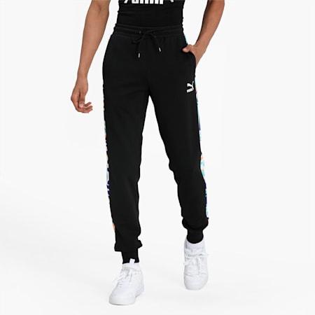 Classics Graphic T7 Printed Men's Track Pants, Puma Black-AOP, small-IND