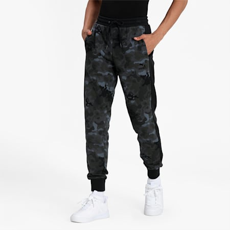 Classics Graphic T7 Printed Men's Track Pants, Puma Black, small-IND
