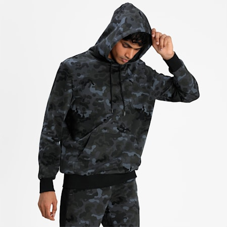 Classics Graphic Printed Men's Hoodie, Puma Black, small-IND