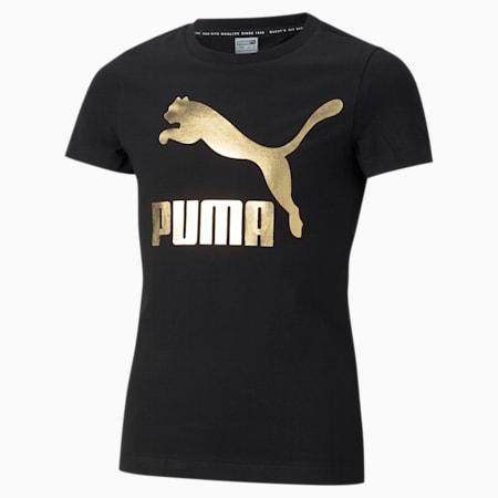 Młodzieżowy T-shirt z logo Classics, Puma Black, small