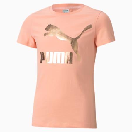 Młodzieżowy T-shirt z logo Classics, Apricot Blush, small