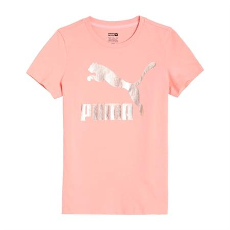 Classics Logo Kid's   T-shirt, Apricot Blush, small-IND