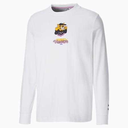 Męski T-shirt z długim rękawem PUMA x  BOKU, Puma White, small