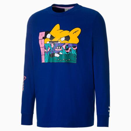 T-shirt a maniche lunghe PUMA x  BOKU uomo, Sodalite Blue, small