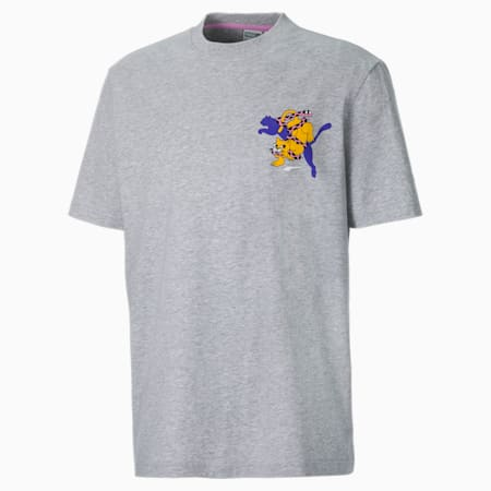 PUMA x BOKU Herren T-Shirt, Light Gray Heather, small