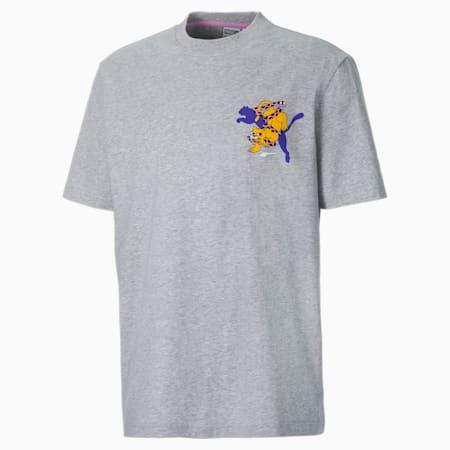 T-shirt PUMA x  BOKU uomo, Light Gray Heather, small