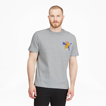 CamisetaPUMA x AKA BOKUpara hombre, Light Gray Heather, pequeño