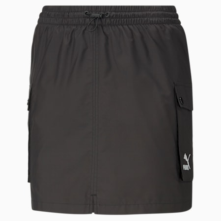 Classics Women's Cargo Skirt, Puma Black, small-IND