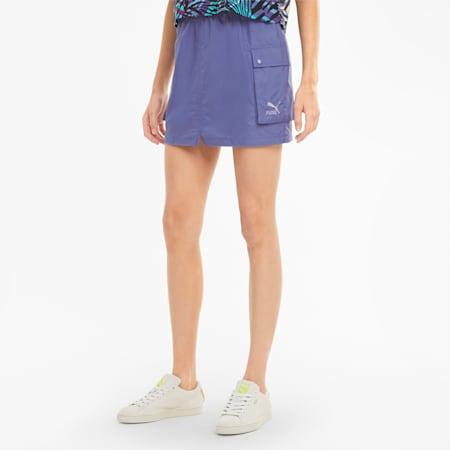 Classics Women's Cargo Skirt, Hazy Blue, small