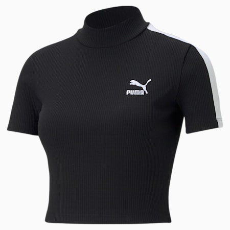 Classics Women's Mock Neck Top, Puma Black, small-GBR