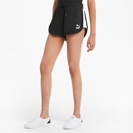 Iconic T7 Women's Shorts, Puma Black, small-GBR