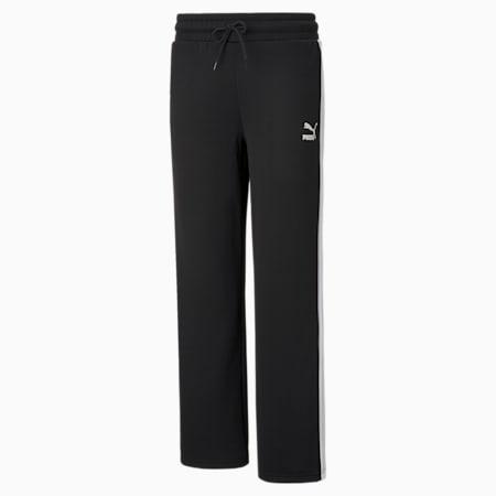 Pantalon à jambe large Iconic T7, femme, Puma Black, petit